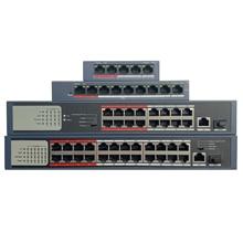 HIK с логотипом 4CH 8CH 16CH 24CH PoE LAN сетевой коммутатор, DS 3E0105P E/м DS 3E0109P E/м DS 3E0318P E/м DS 3E0326P E/м экономического