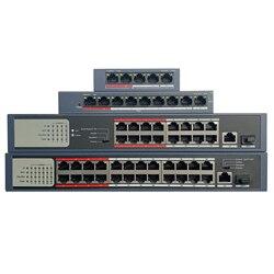 HIK con el logotipo 4CH 8CH 16CH 24 ch PoE LAN interruptor de red, DS-3E0105P-E/M DS-3E0109P-E/M DS-3E0318P-E/M DS-3E0326P-E/M económico