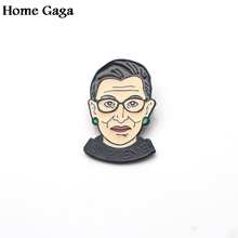 Homegaga Ruth Bader Ginsburg Zinc pins para backpack pride clothes metal medal for bag shirt badge brooches men women D1311