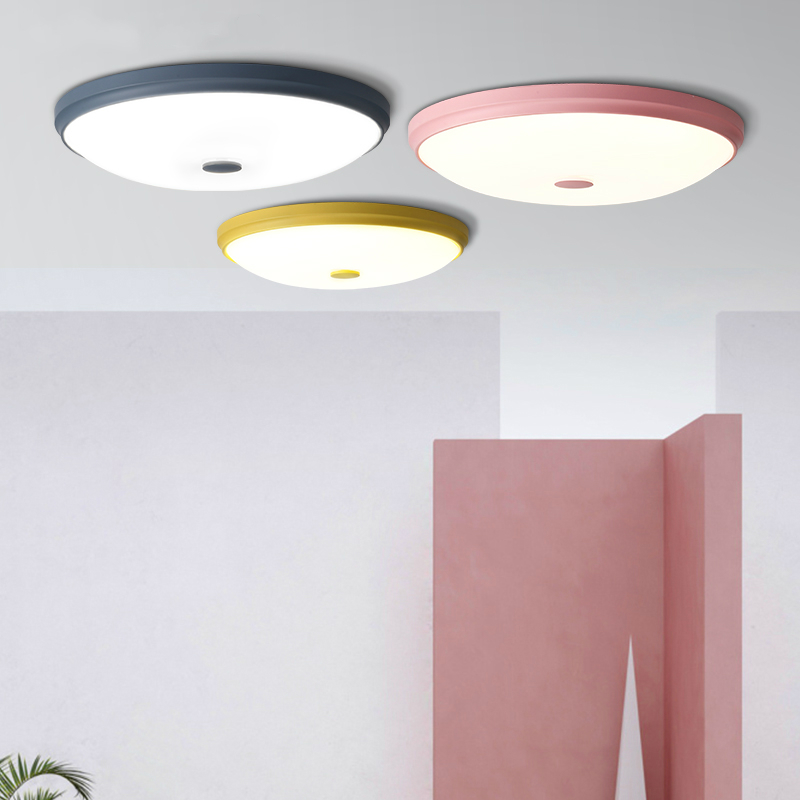 цена на Modern LED ceiling lights Macaron lamps living room illumination bedroom fixtures Nordic luminaires restaurant ceiling lighting
