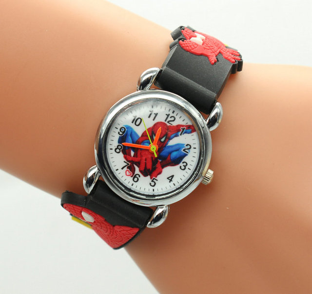 hot sale fashion spiderman watches children watch cute cartoon watch kids cool 3