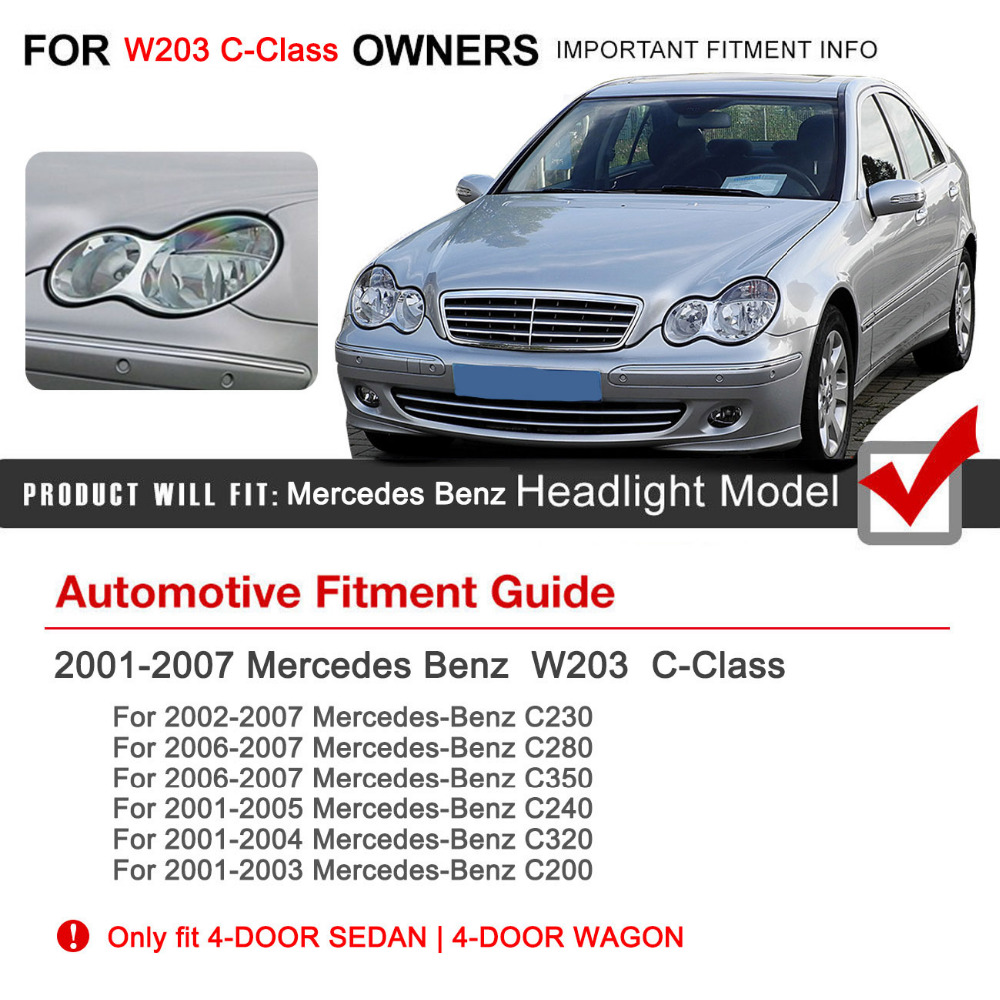 2pcs headlight cover glass lens shell lamp housing covers for mercedes benz w203 c class c230 c280 c350 c240 c320 c200 4 door c in lamp hoods from  [ 1000 x 1000 Pixel ]