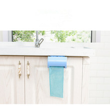 1PC Wall-mounted Plastic Bag Storage Box Garbage Trash Container Multi-purpose Kitchen Bathroom Organization OK 0826