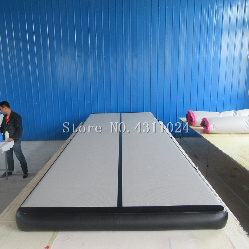 Livraison Gratuite 6x1x0.2 m Bleu Gonflable Matelas De Gymnastique Gymnastique Airtrack de Plancher De Voie D'air Pour vente