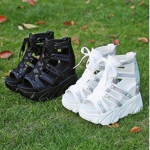 Image 5 - Ho Heave Comforty รองเท้าผู้หญิง Muffin ด้านล่าง Wedges รองเท้าส้นสูงรองเท้าฤดูร้อนหญิง Breathable รองเท้าแตะแฟชั่นผู้หญิงรองเท้าแตะ