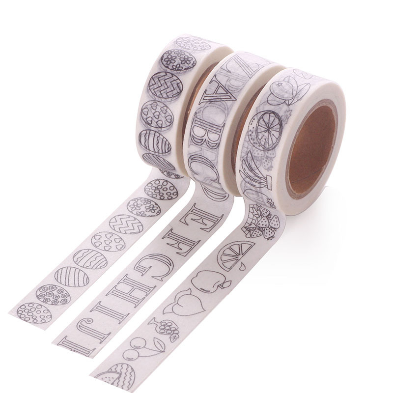 Can Be Painted Color Letters Egg Washi Paper Masking Adhesive Tapes For Scrapbooking DIY Stickers Wrapping Sticker Decorative
