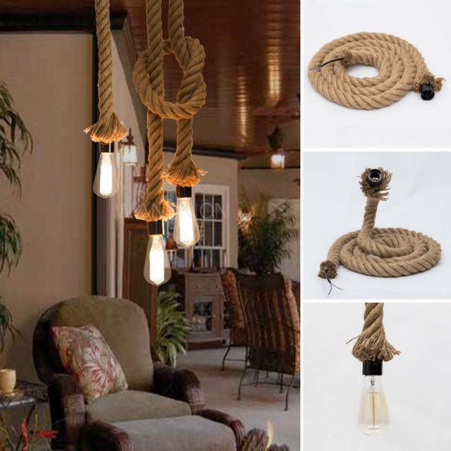 25m industrial vintage marine rope pendant light plugin yarn cord 25m industrial vintage marine rope pendant light plugin yarn cord flex w bulb aloadofball Gallery