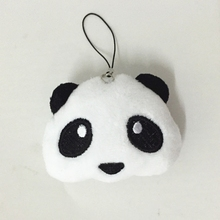 Original Cute Panda Plush Doll Keychain Fluffy Pom Pom Bear Pendant Purse Bag Car Charms Toy Key Ring Holder Party Wedding Gifts недорого