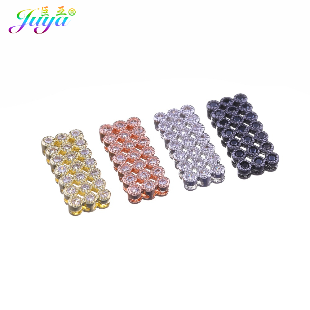 Handmade Beadwork Jewelry Components Hollow Square Charm Connectors Accessories For Natural Stone Bead Pearl Jewelry DIY Making