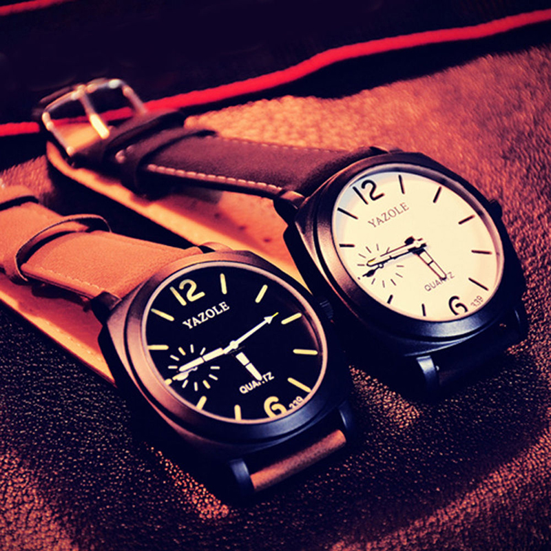 339 Fashion Men Quartz Watch Top brändi luksuslik nahk käekellad - Meeste käekellad - Foto 5