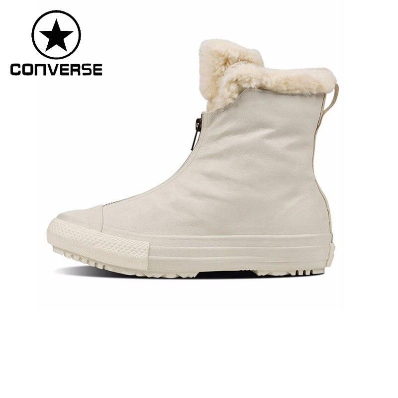 Prix pour Original Nouvelle Arrivée Converse Femmes de Planche À Roulettes Chaussures boot linceul en cuir Sneakers