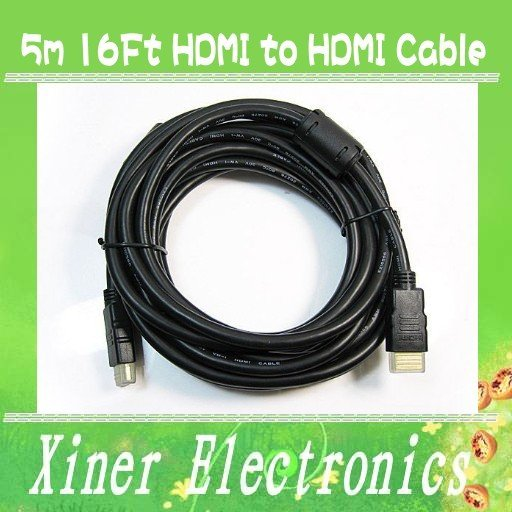 NEW Free Shipping 5m 16Ft HDMI to HDMI Cable Adapter for HDTV PS3 Xbox Wholesale/Retail