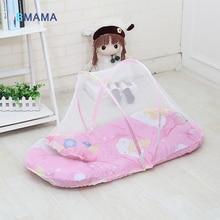 Купить с кэшбэком With netting folding baby bed lace cotton material net yarn boy girl baby bed super baby crib