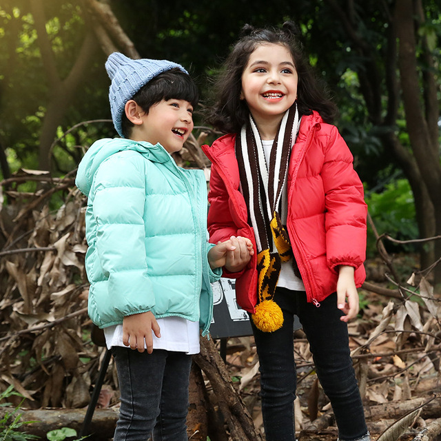 Best Offers 2018 orangemom official store Autumn - Winter jackets for boys duck down winter jacket for girls coats 2-6Y korean kids clothes