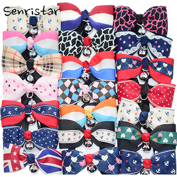 Cute Bow Tie With Bell Pet Collars