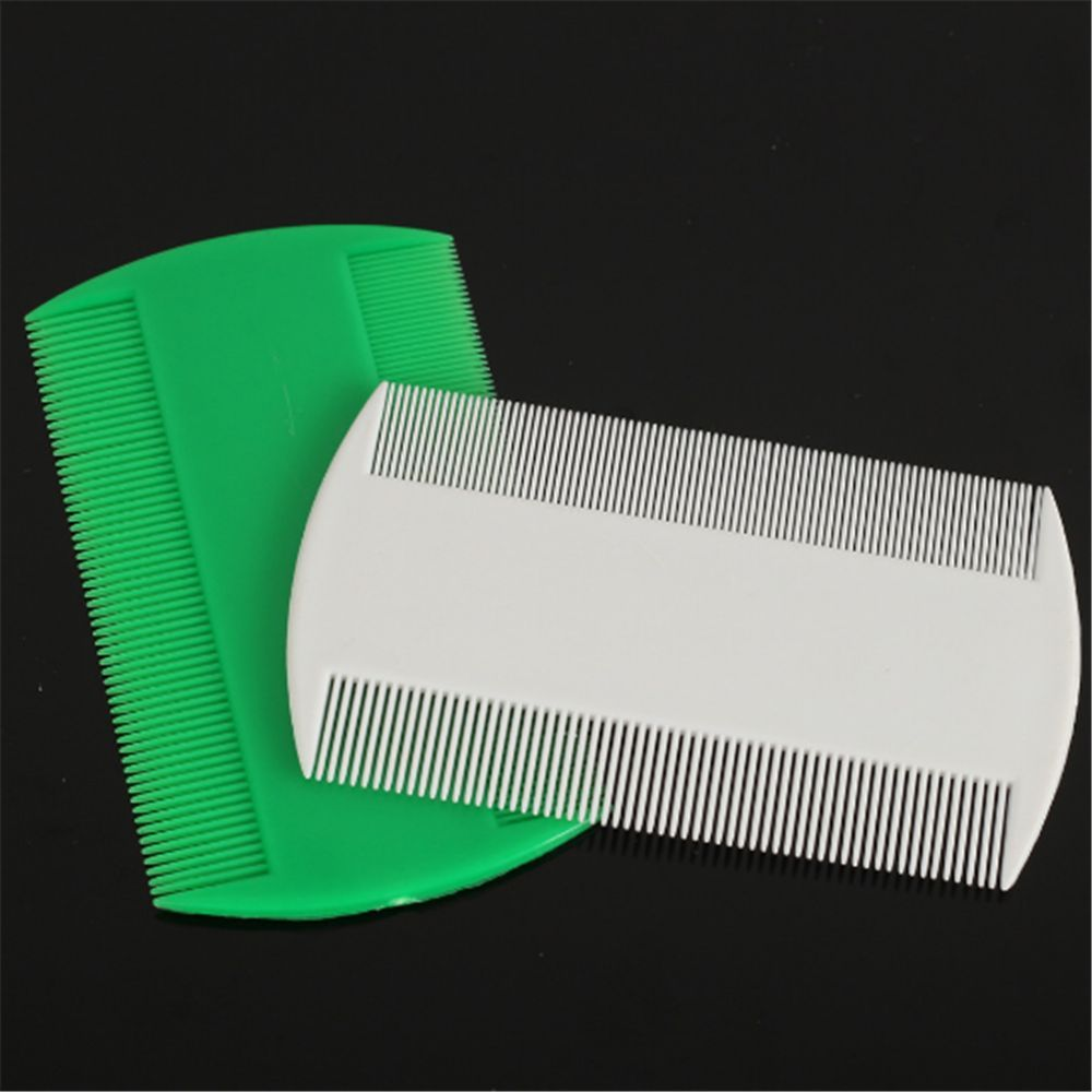 Portable Double Sided Nit Fine Tooth Head Lice Hair Combs for Pet Flea Plastic ...