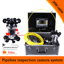 (1 set) 30M Cable Video surveillance system Waterproof Pipeline inspection Camera Endoscope HD CCTV Night Version DVR Function