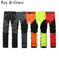Camping Hiking Winter Outdoor Sport Pants Warm Waterproof Fleece Windproof Fishing Pants Men Women Mountain Climbing Pantalones
