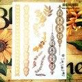 SHNAPIGN 24 стиля временная татуировка боди-арт, утренняя слава золотой дизайн, наклейка для татуировки Flash Keep 3-5 дней Водонепроницаемый 21*15 см