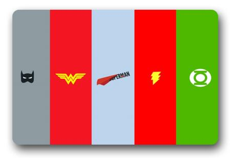 Custom Batman Doormat Flash Pad Wonder Woman Mat Superman Carpets DC Comics  Bathroom Justice League Rugs Bedroom Decor #D 175# In Mat From Home U0026  Garden On ...