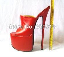 Freies Verschiffen, 24 cm Ferse hohe Sexy Schuhe, High Heel Schuhe, Echte Lederne Schuhe, High Heels, KEINE. y2401