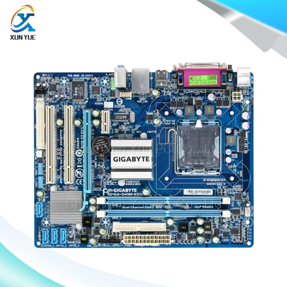 ФОТО Gigabyte GA-G41M-ES2L Original Used Desktop Motherboard G41M-ES2L  G41 LGA 775  DDR2 8G SATA2 USB2.0 Micro-ATX
