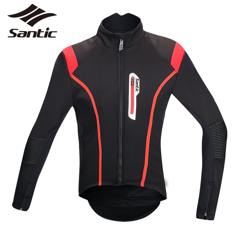 Santic Cycling Jersey Men Winter Fleece Thermal Jersey Pro Downhill Bike Long Sleeve Road MTB Jersey Anti-sweat Roupa Ciclismo santic men short sleeve cycling jersey breathable summer cycling clothing mtb road downhill bicycle bike jersey anti sweat
