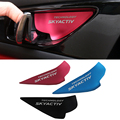 Aluminum 4pcs/set Car Styling Car Interior door bowl stickers Sequins For Mazda Atenza CX-3 CX-4 CX-5 Axela Car Accessory Sequin