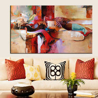 Hand painted Modern Abstract nude Oil Painting On Canvas Lying sleeping woman nude sexy girl canvas art unique design Decoration