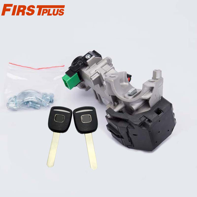 Ignition Switch Lock Cylinder For Honda Accord Civic Crv Odyssey 2003 2017 Auto Trans With 2 Chip Keys