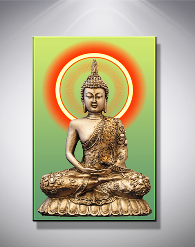 HD Print Golden Buddha Painting Picture Living Room Wall Decor Modern Home  Decoration Print Painting On