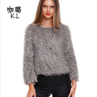 2017 Winter Autumn Women Sweater Pullovers Short Knitted Cashmere Thicken Warm Sexy Slim Pencil Female Tops