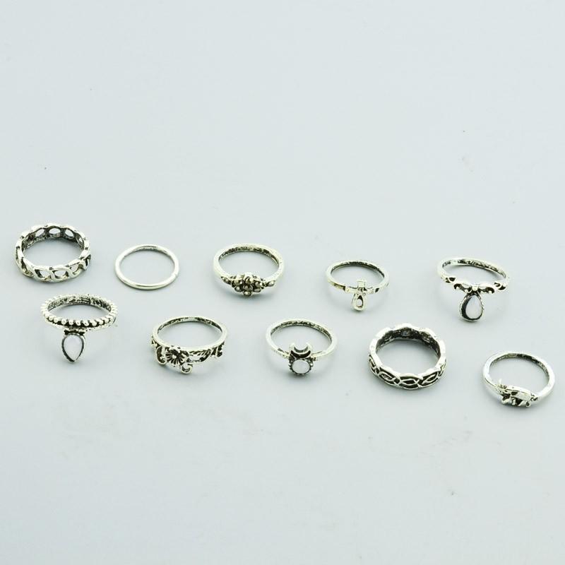 HTB1_4OhNXXXXXa6aXXXq6xXFXXXq Bohemian Fashion Vintage Rings Jewelry Set For Women - 10 Pieces