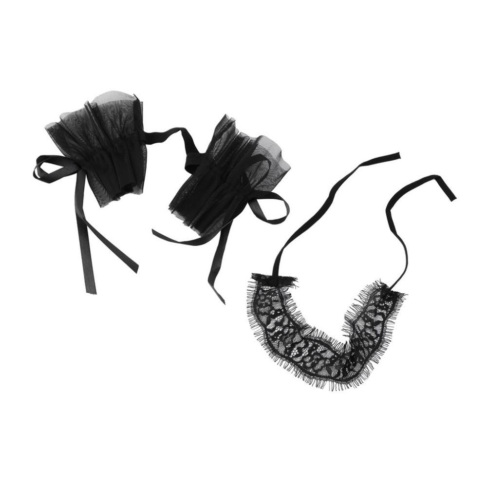 NEW Women s Sexy Lingerie Black Lace Eye Covers With 1 Pair Hand Cuff Wrap  Gloves Lace Garters-in Garters from Underwear   Sleepwears on  Aliexpress.com ... ece8449e0f