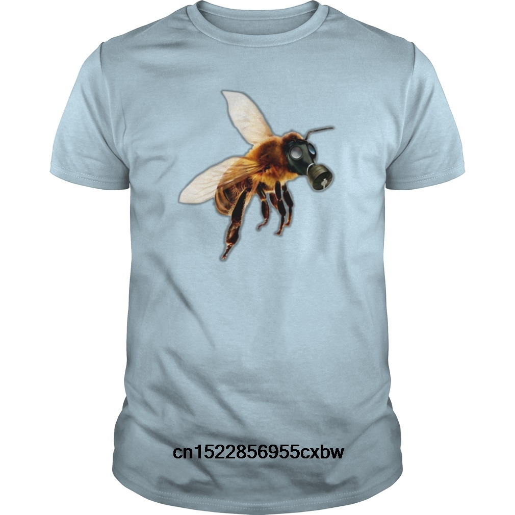 Funny Men T Shirt Women Novelty Tshirt Bee With Gas Mask S Cool T-shirt Reasonable Price T-shirts