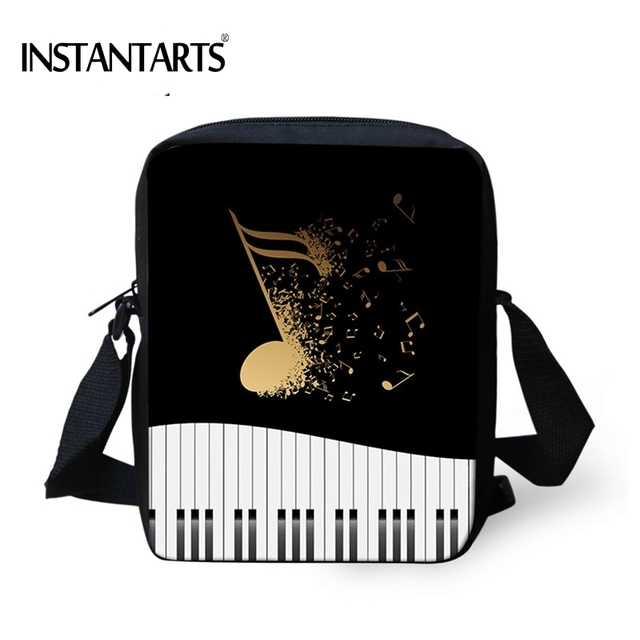 INSTANTARTS Fashion Brand Woman Mini Crossbody Bags Music Note/Piano Keyboard Printed Female Messenger Bags Travel Shoulder Bags