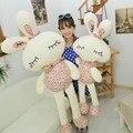 Милый Плюшевый игрушечный милый кролик с цветами  подарок на свадьбу  распродажа  плюшевая игрушка  кукла  детский подарок