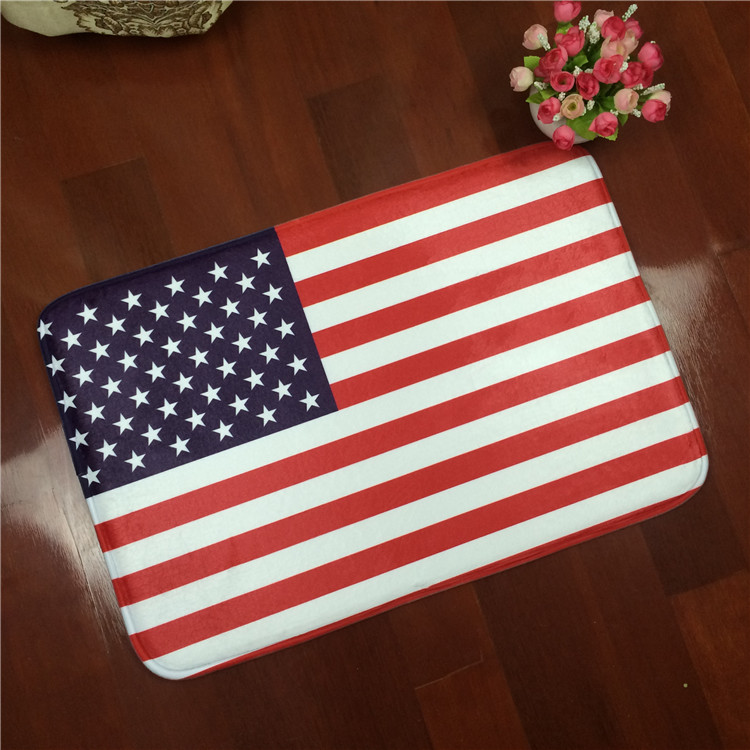 Free Shipping Wholesaler 100% New Carpet British Flag Rectangular Bedroom  Bathroom Antiskid Rug Household Foot