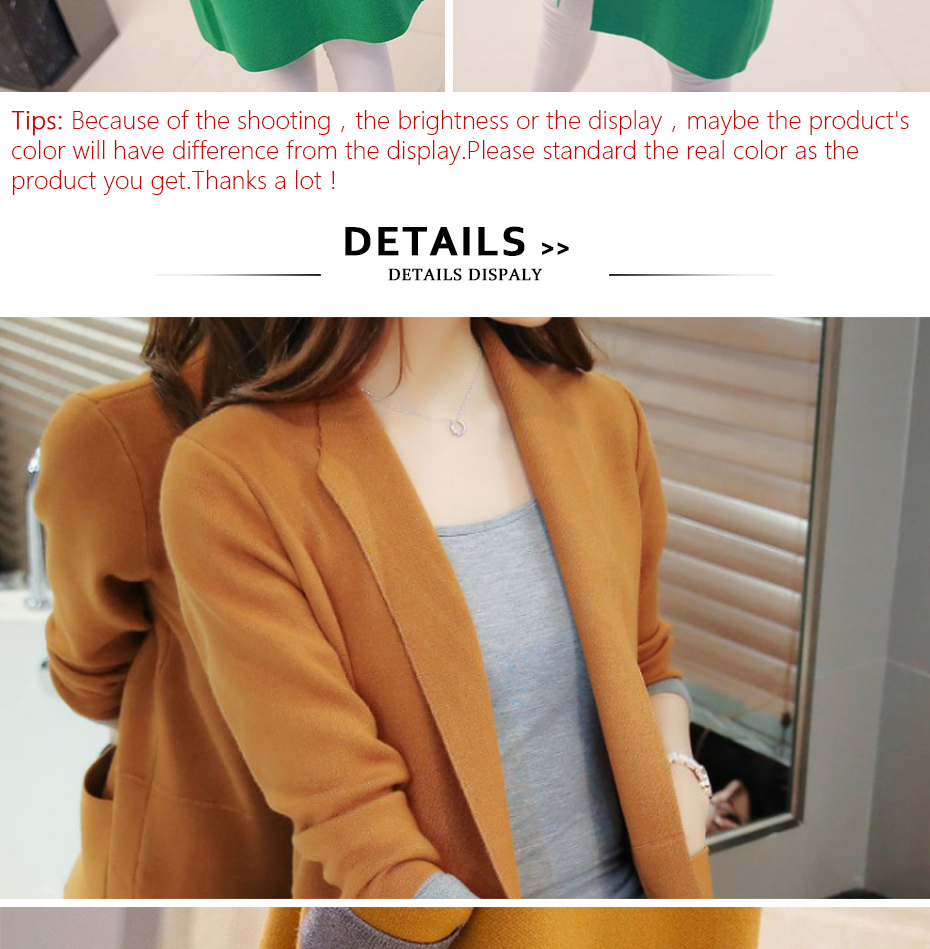 TIGENA Long Cardigan Female 2018 Autumn Winter Women Long Sleeve Cardigan Sweater Knitted Cardigans For Women Jacket Tops 20