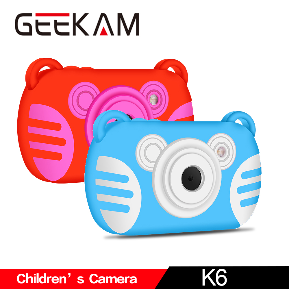 GEEKAM Children's Camera K6 Mini Kid Cameras Professional Waterproof Underwater Shooting Digital Portable Cute Neck Child Gift-in Point & Shoot Cameras from Consumer Electronics