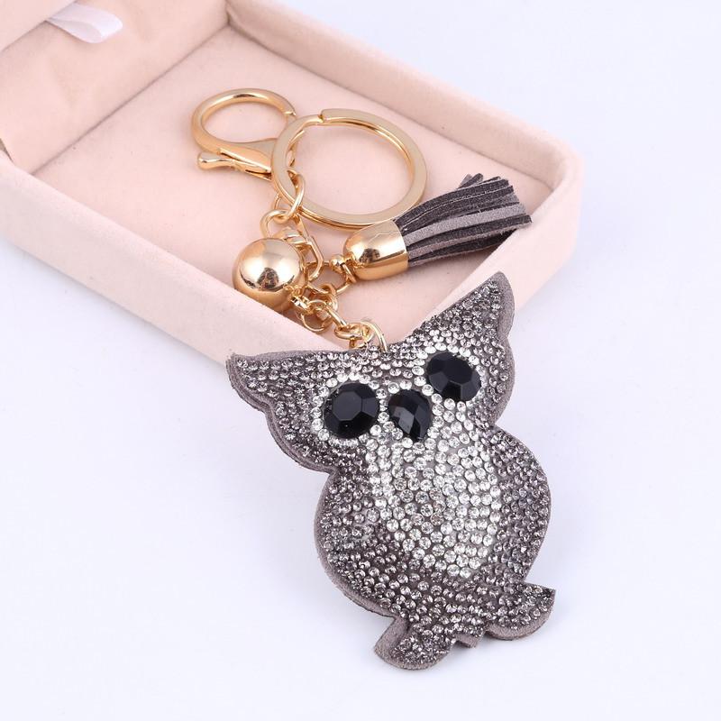 Owl Cute Crystal Keychains