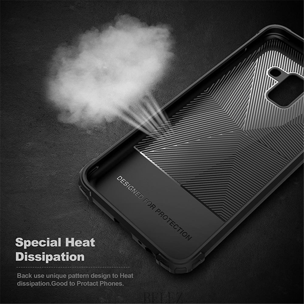Luxury Carbon Fiber Cover for Samsung Galaxy A8 A6 A750 J4 J6 Plus A9 A6s 2018 Soft Case S7 edge S8 S9 Note 8 9 J2 J3 J5 J7 2017 9