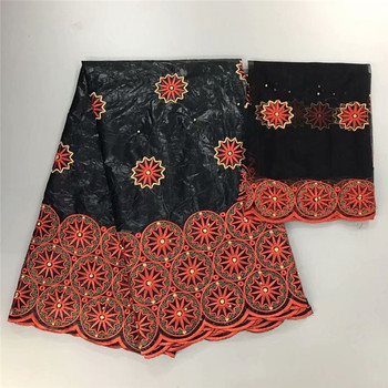 bazin riche getzner 2019 nouveau black lace fabric for women bazin brode getzner african brocade fabric 5+2yards/lot h14-25