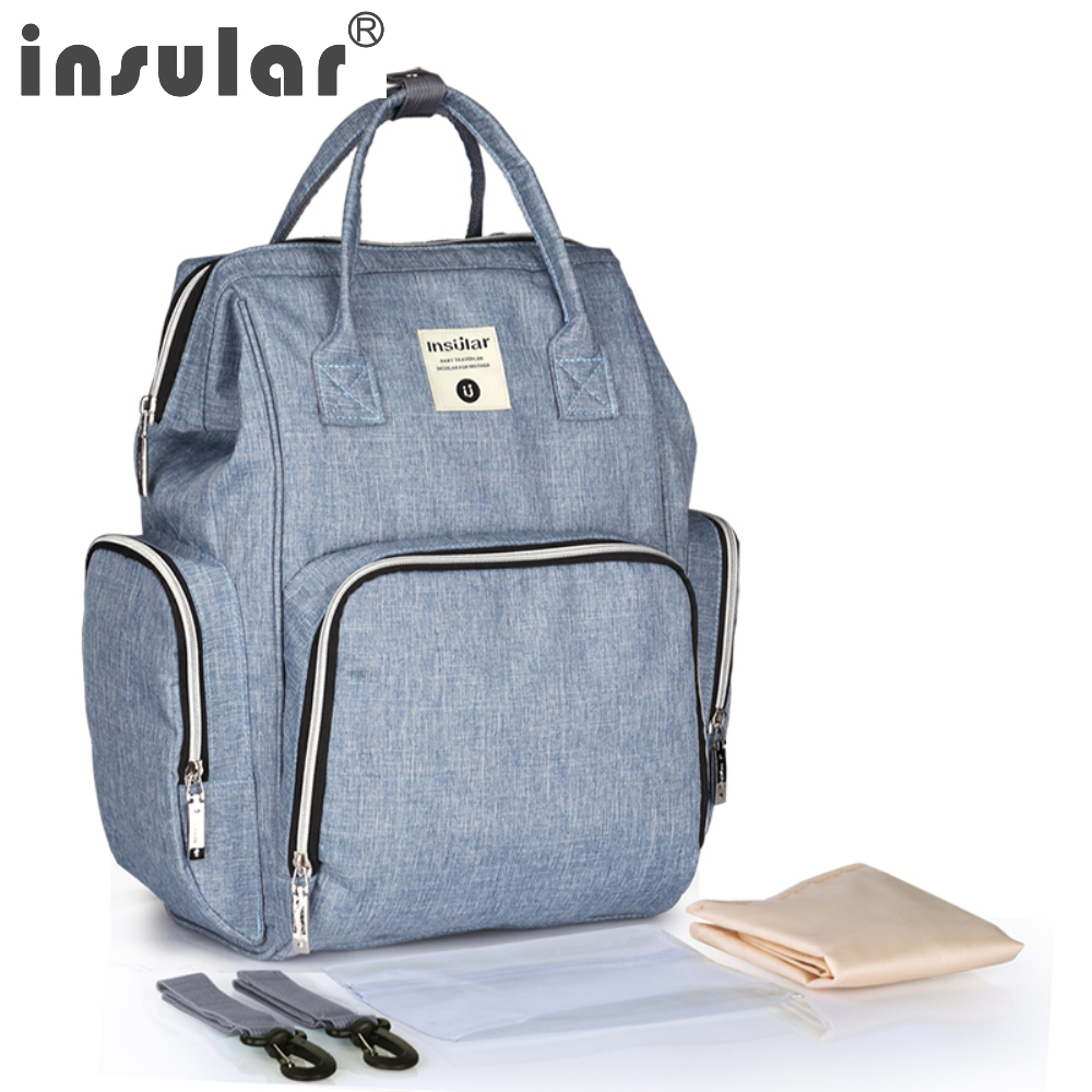 Baby Changing Bag with Mat Ergobaby Diaper Bag The Take Along Grey Sport Multifunctional Portable Nappy Bag with Change Pad