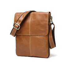 TIDING Genuine Leather Men's Crossbody Multifunctional Casual Shoulder Messenger Bags for iPad  Quality Male Black/Brown Q8613 tiding unisex large 100