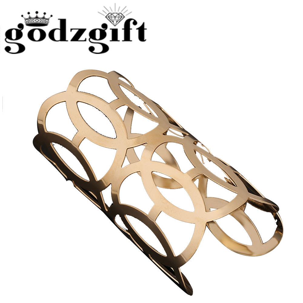 Godzgift Women Vintage Royal Intersect Bracelets Girls Modern Jewelry Gifts For Ladies Chic Ornament New Tribe Hollow Out JB5019
