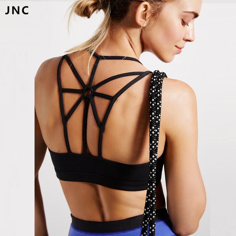 Women's High Support Cross Beautiful Back Wirefree Removable Padded Cups Yoga Sport Bra Athletic Vest Tops