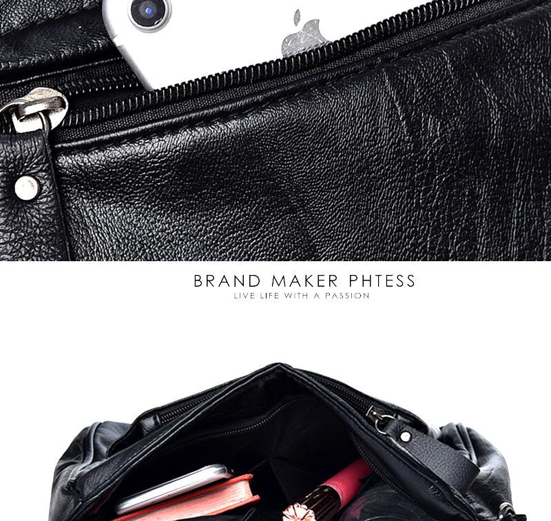 18 Women Messenger Bags Crossbody Soft Leather Shoulder Female Bag Flap Bolsa Feminina Designer Handbags High Quality Brand 15