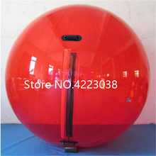 Free Shipping 2.0m Dia Red Inflatable Water Walking Ball Water balloon Zorbing Ball Walking On Water Walk Ball Water Ball(China)