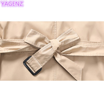 YAGENZ Plus size Trench Coat Autumn Coat Women Long Coats Windbreaker Top Double-breasted Boutique Women Clothing Fashion Coat88 10